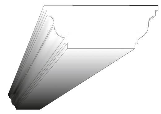 BK-022 Deckenbalken aus Styropor Balkenverkleidung Verkleidung Kassettendecken Balken 100x150mm 300cm