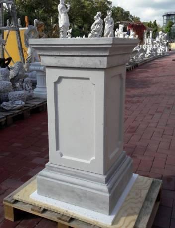 BAD-KP0441B Sockel Säule als Gartensockel für Pflanzgefäße Gartenfiguren Pfeiler aus Beton Steinguss 45x45cm 87cm