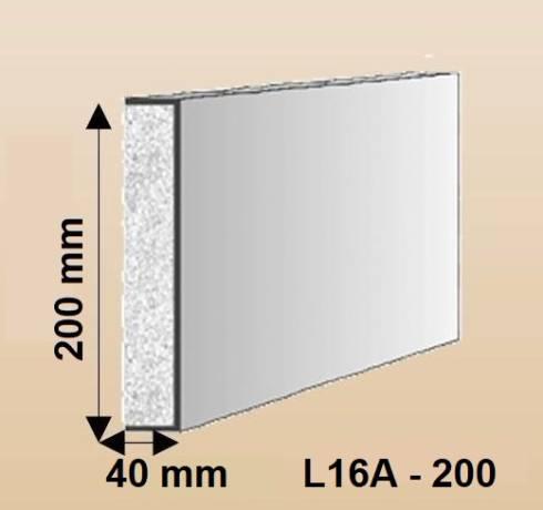 L16A-200 Fassadenstuck Leisten Baudekore Styroporstuck Profile Fassadenprofile 20020 bis 150x20mm 300cm - Kopie