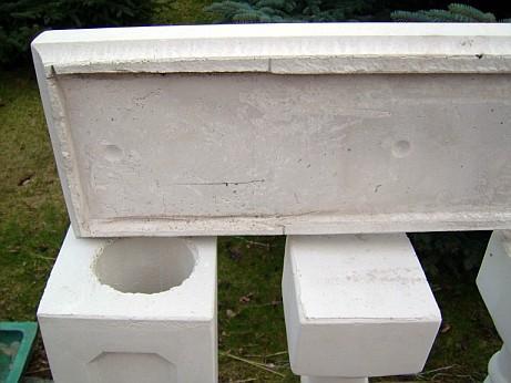 Balustrade aus Beton