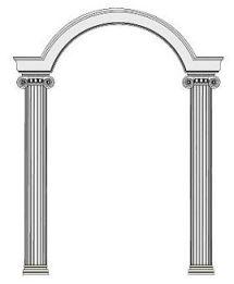 S ulenportal portal pavillion triumphbogen s ule for Styropor wanddeko