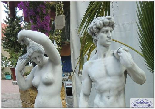 Gartenfigur David und Venus