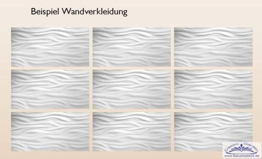 3d deko art desin wandplatten aus keramikgips als. Black Bedroom Furniture Sets. Home Design Ideas