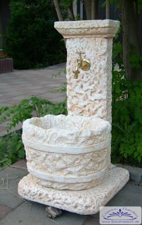 Wasserzapfstelle als garten wandbrunnen gartendekoration - Garten wasserzapfstelle ...