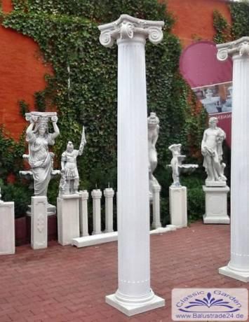 Ganz und zu Extrem Betonsäulen mit Sockel und Kapitell aus Weißbeton - Gartenfiguren #HS_96