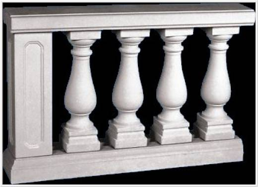 Typ-04 PLUS Balustradengeländer UNSERE Highlight Balustrade aus Weissbeton Balustrade 92cm hoch