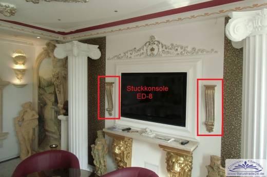 wandkonsole konsole stuckkonsole stuck gipsstuck innenstuck gartenfiguren styroporstuck. Black Bedroom Furniture Sets. Home Design Ideas
