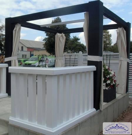 kunststoffzaun moderne vierkant balustrade f r balkon aus. Black Bedroom Furniture Sets. Home Design Ideas