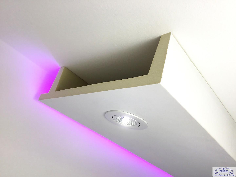 Deckenkasten led 12 als lichtleiste und spots indirekte decken und ...