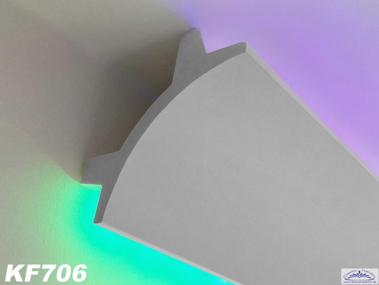 lichtleisten profil kf706 f r indirekte led decken und wandbeleuchtung gartenfiguren aus beton. Black Bedroom Furniture Sets. Home Design Ideas