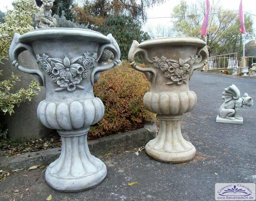 Gartendeko Modern henkelvase mit floralem modern design gartendeko vase parkvase