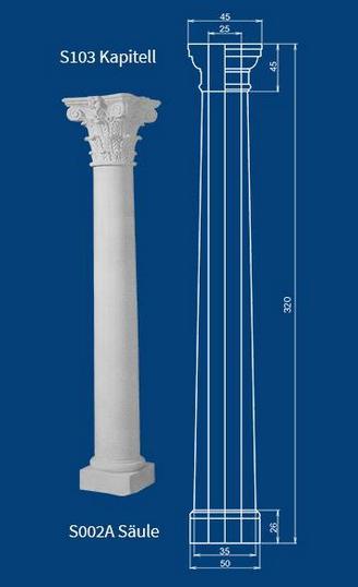 Etwas Neues genug Betonsäule mit korinthischem Kapitell als Betonfertigteil einer #KT_29