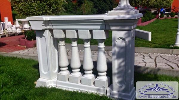 komplettsystem baluster balustraden set weissbeton design. Black Bedroom Furniture Sets. Home Design Ideas