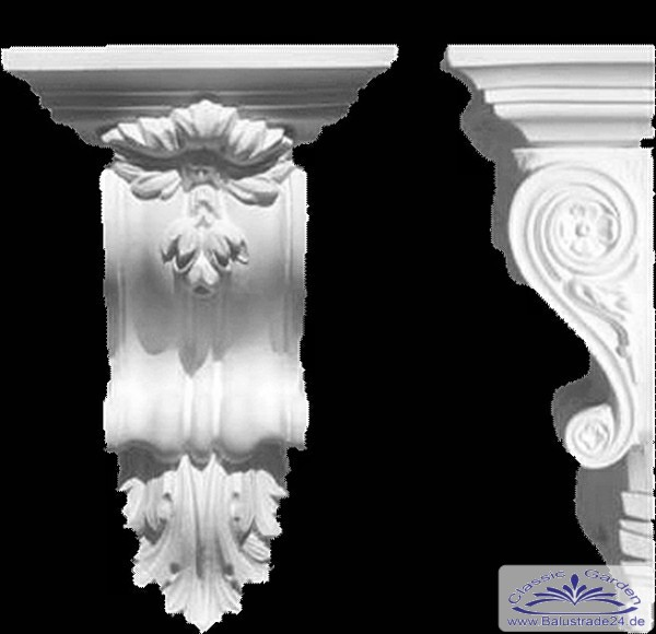 konsole stuckkonsole stuck zierprofil zierleiste gipsstuck innenstuck profil. Black Bedroom Furniture Sets. Home Design Ideas