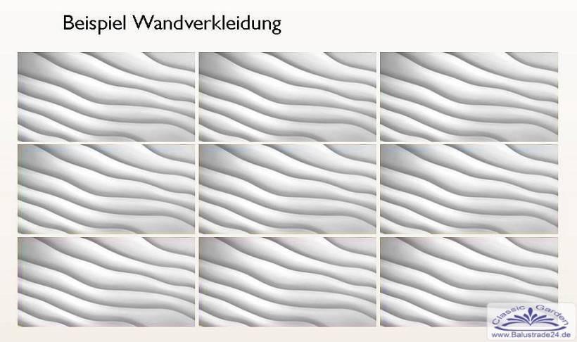 3d Deko Wandplatten Aus Keramikgips Als Dekorative Wandverkleidung