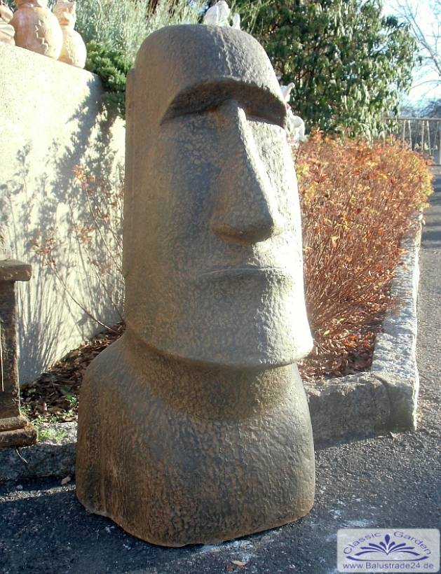XXL Maoi Skulpturen der Osterinsel kaufen Steinfigur Rapa Nui Figur ...