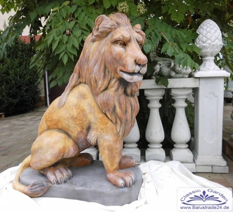 L wenfigur gartenfigur statue figur gartendekoration l we for Gartenfiguren tiere kunststoff