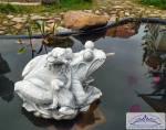 SA-N1327 Frosch Wasserspeier Teichfigur Gartenteich Froschfigur 15kg