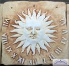 BD-7218 Sonnenuhr Wandplatte römischen Zifferblatt als Gartendeko 60x60cm