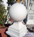 KP-0432 Wuchtige Betonkugel auf Sockel als Pfeilerschmuck Pfeilerkrone oder als Gartendeko 50cm 50kg